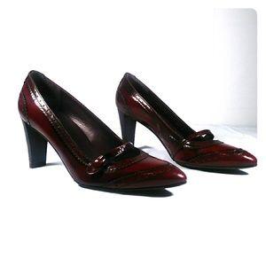Stuart Weitzman Bordeaux red heels us size 5.5